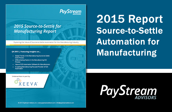 Trends in Source-to-Settle for Manufacturers